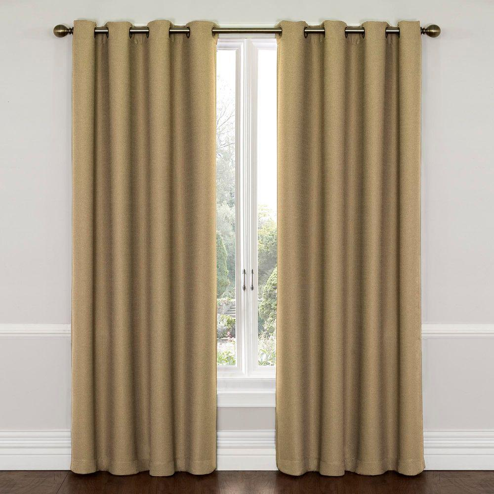 Eclipse Wyndham Blackout Latte Curtain Panel, 95 in. Length