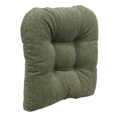 Amazing Gripper Non Slip 17 In. X 17 In. Polar Chenille Jade Tufted Universal Chair  Cushions