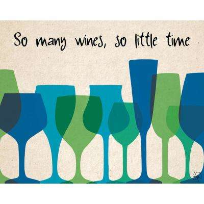 "16 in. x 20 in. ""So Little Time"" Planked Wood Wall Art Print"