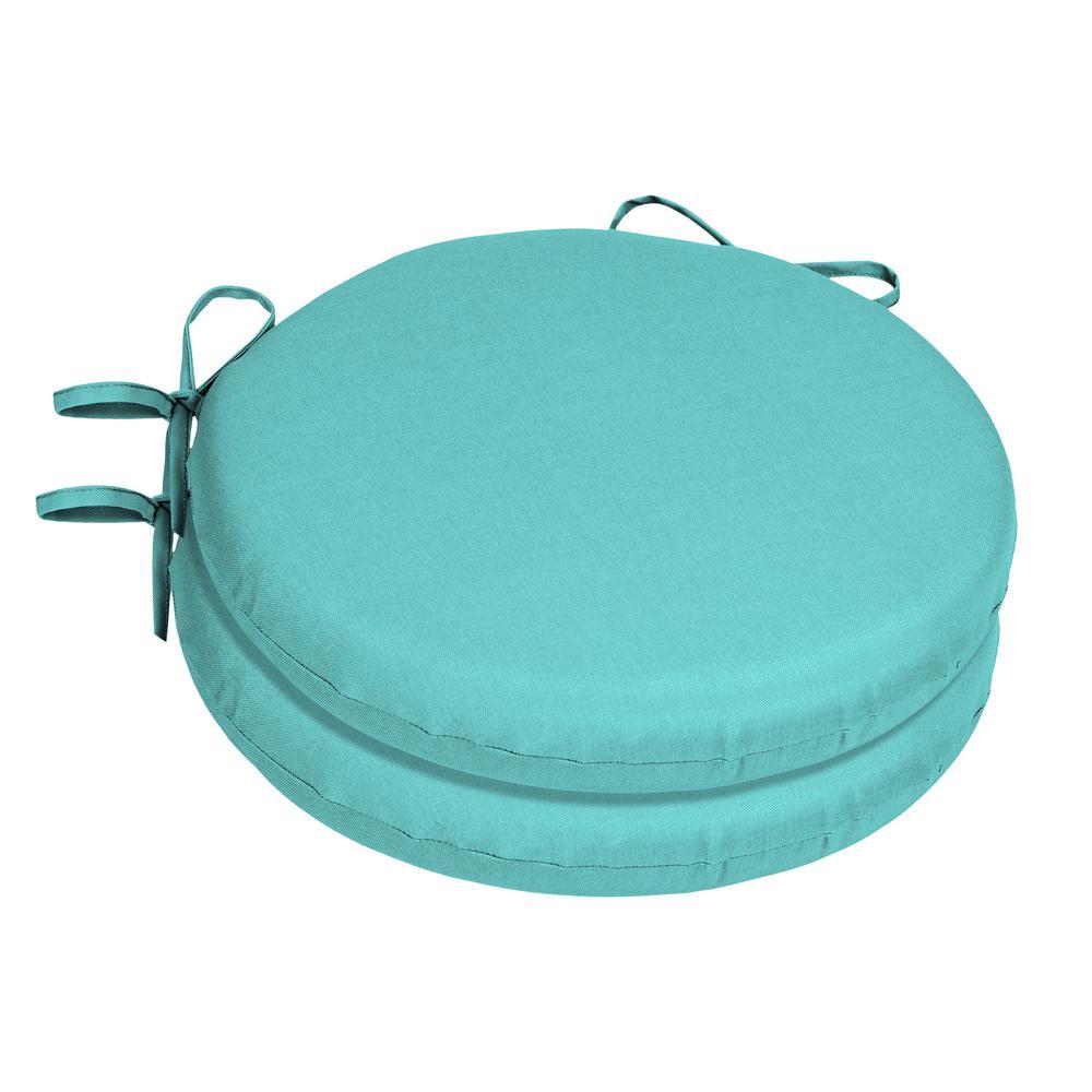 Sunbrella Canvas Aruba Round Outdoor Seat Cushion (2-Pack)