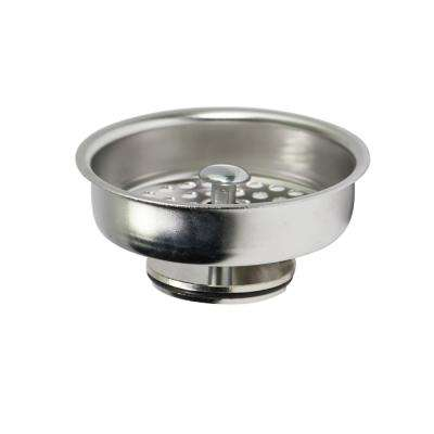 3-1/2 in. Strainer Basket Replacement for Kitchen Sink Drains Stainless Steel Kohler Style Stopper