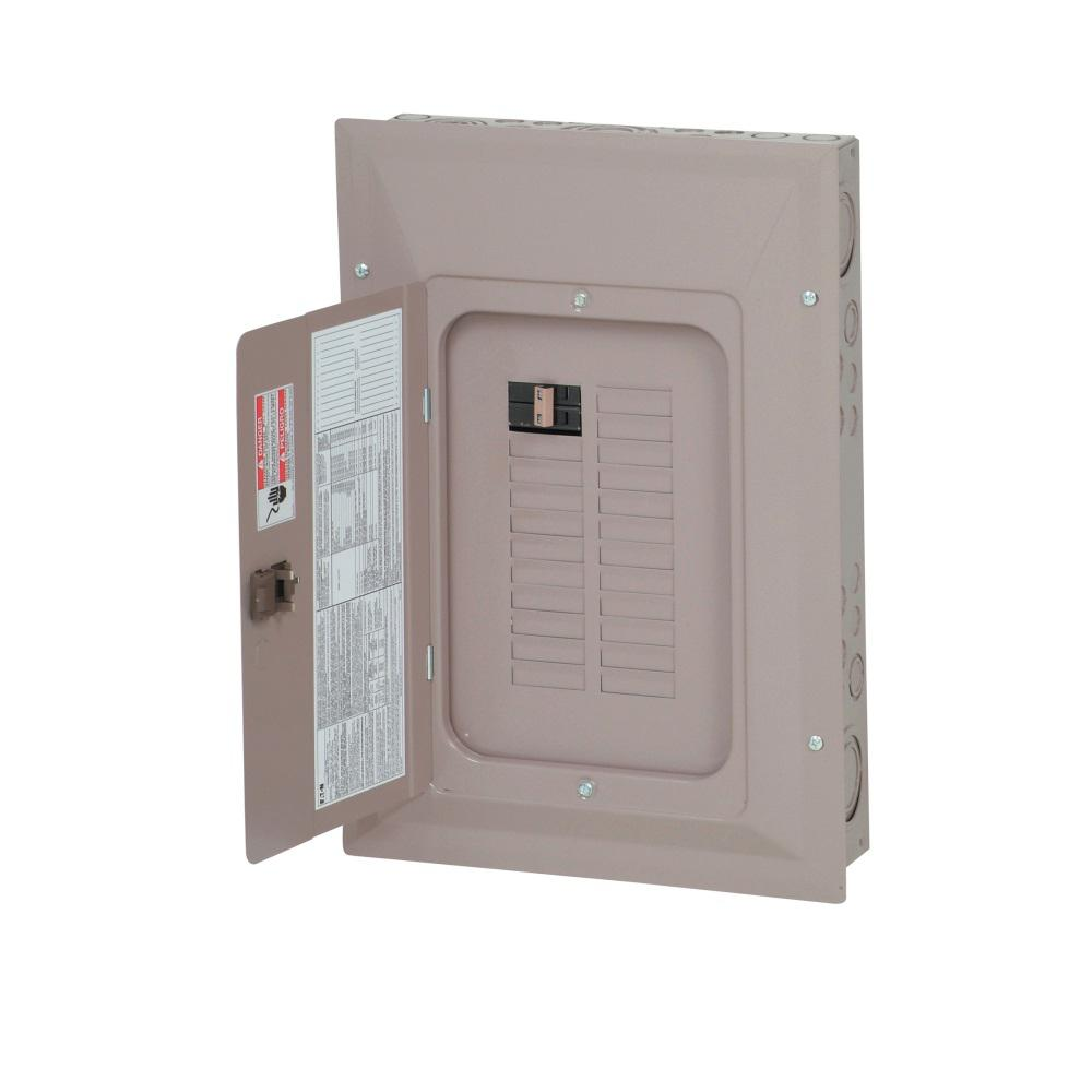 Eaton CH 100 Amp 22-Space 22-Circuit Main Breaker Renovation Panel with  Cover