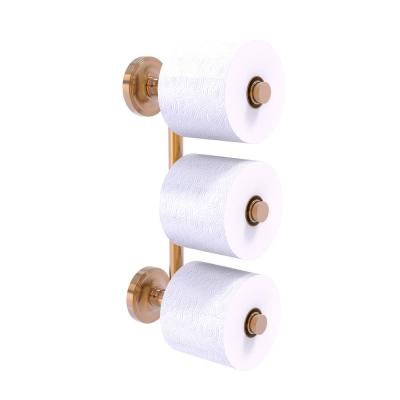 Prestige Regal 3 Roll Reserve Roll Toilet Paper Holder in Brushed Bronze