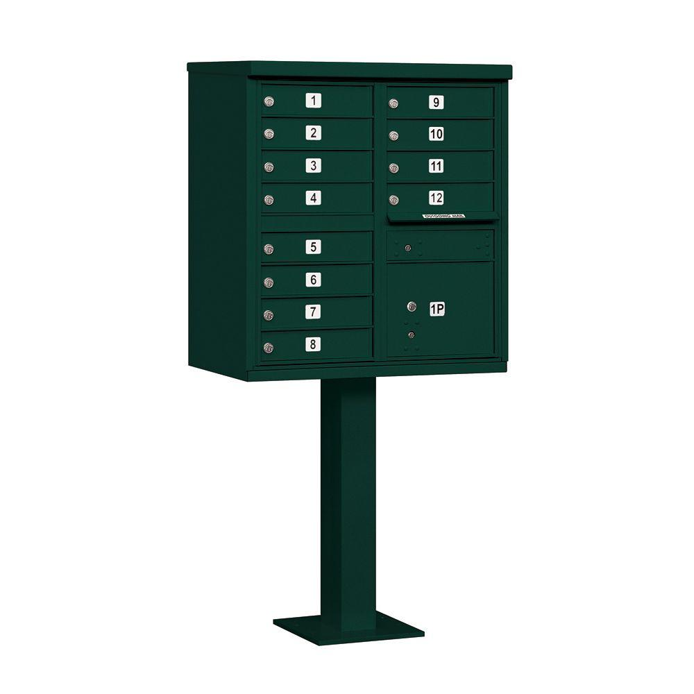 3300 Series Green Private 12A Size Doors Type II Cluster Box