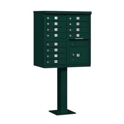 3300 Series Green Private 12A Size Doors Type II Cluster Box Unit