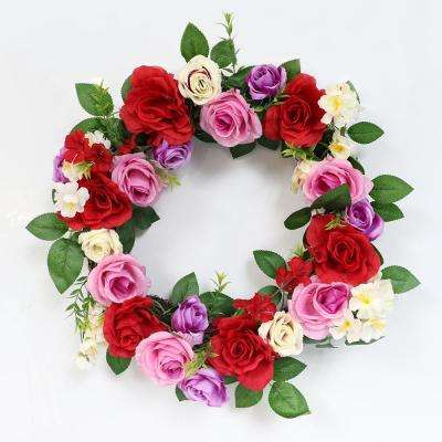 20 in. Wreath with Rose's