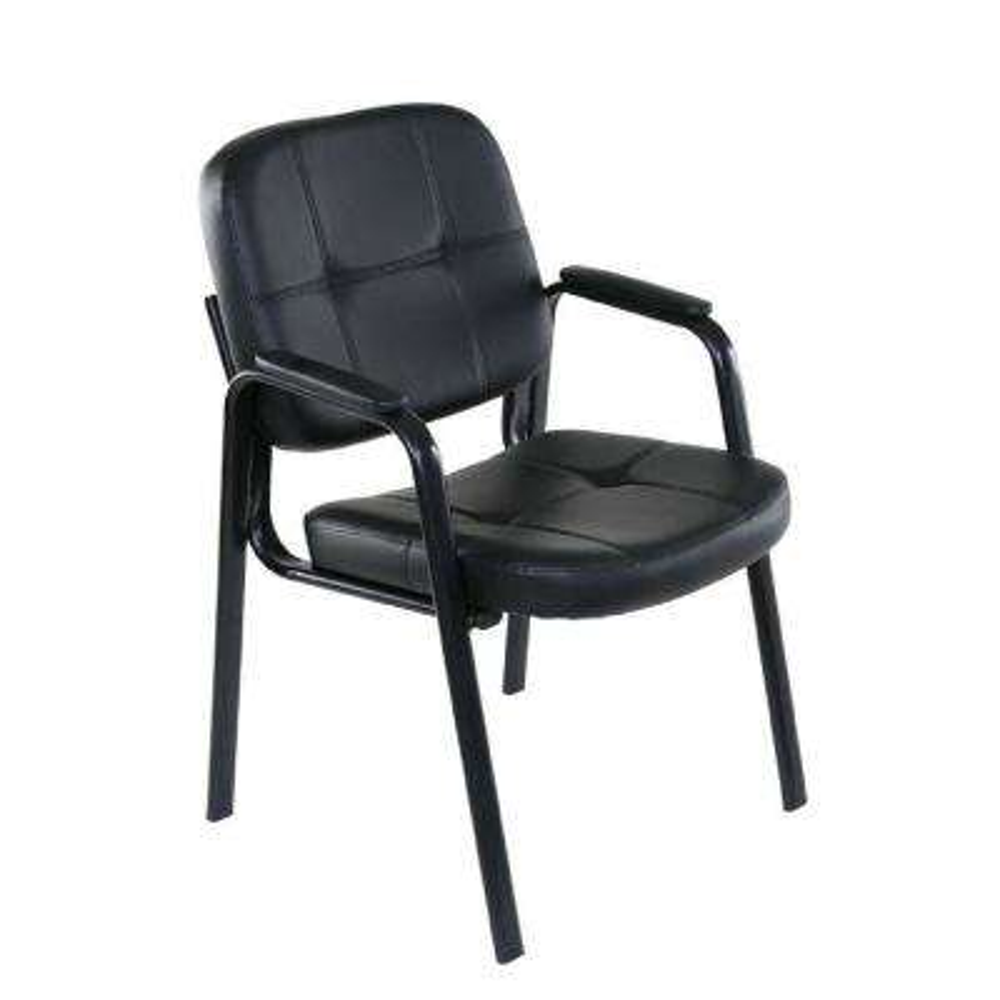 basics black guest reception chair