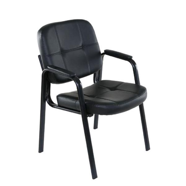 OneSpace Basics Black Guest Reception Chair
