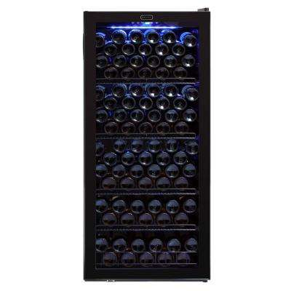 Whynter 23.5 in. 124 standard (750 ml) Bottle Freestanding Wine Cooler