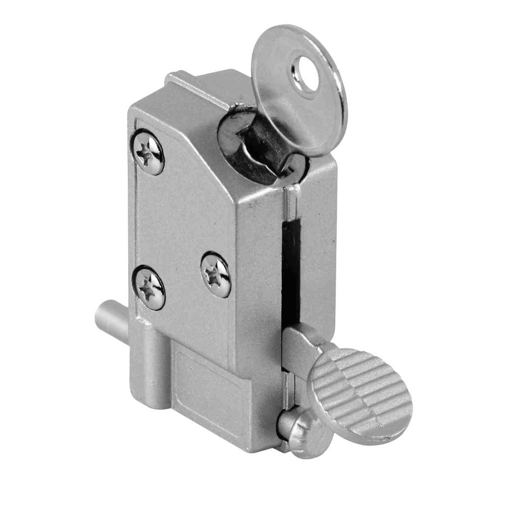 Slide Lock For Glass Door: Prime-Line Keyed Step-on Sliding Door Lock-U 9882