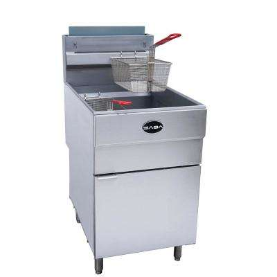 21 in. 85 lb. Capacity Natural Gas Commercial Deep Fryer