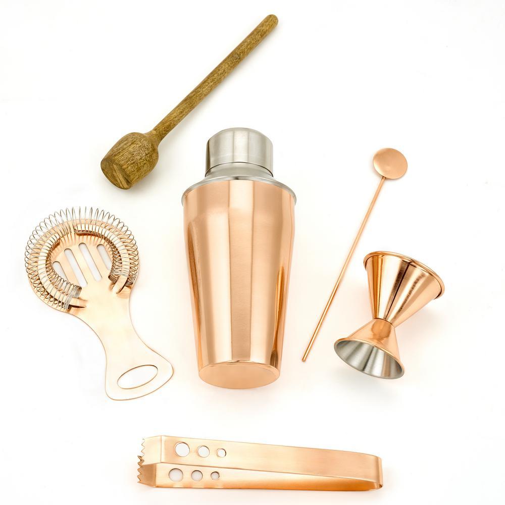 6-Piece Copper Bar Tools Set