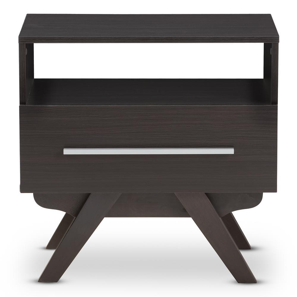 furinno home living bin drawer dark walnut nightstand-10004dwn - the Dark Walnut Nightstand