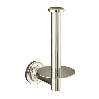 Purist Wall-Mount Single Post Toilet Paper Holder in Vibrant Polished Nickel