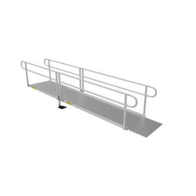 PATHWAY 3G 14 ft. Ramp Kit with Solid Surface Tread and Two-line Handrails