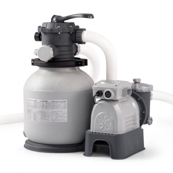 Intex 2100 Gph Krystal Clear Sand Filter Above Ground Swimming Pool Pump System 28645eg The Home Depot