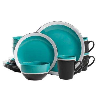 Color Eclipse 16-Piece Blue Dinnerware Set