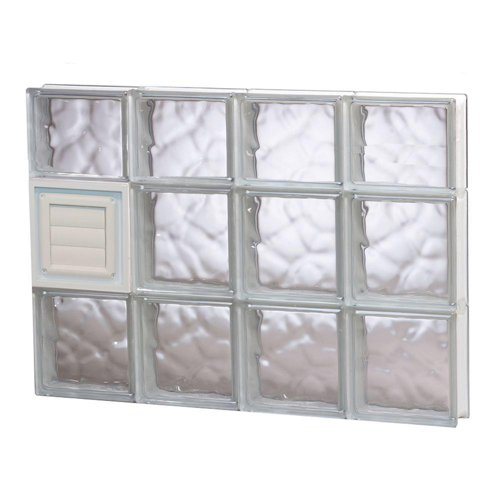 Clearly Secure 31 in. x 21.25 in. x 3.125 in. Frameless Wave Pattern ...