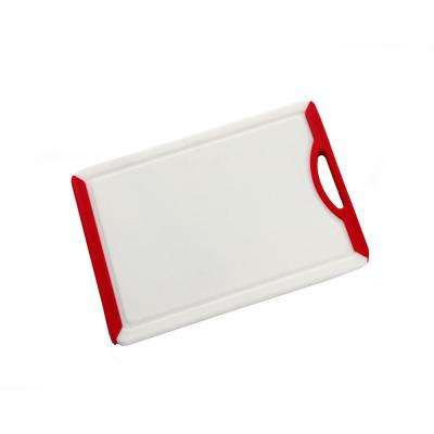 Medium PP White Cutting Board with TPR Soft Grip