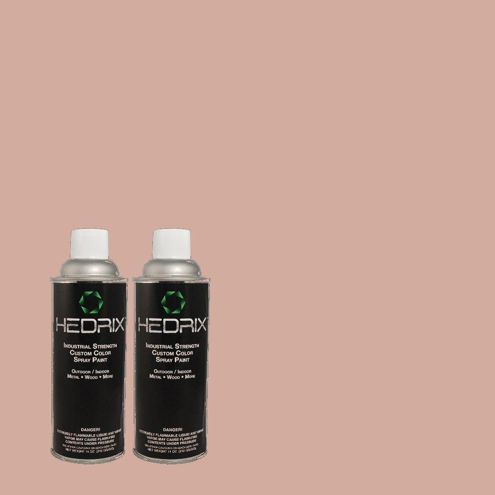Hedrix 11 oz. Match of 140E-3 Rose Bisque Low Lustre Custom Spray Paint (2-Pack)