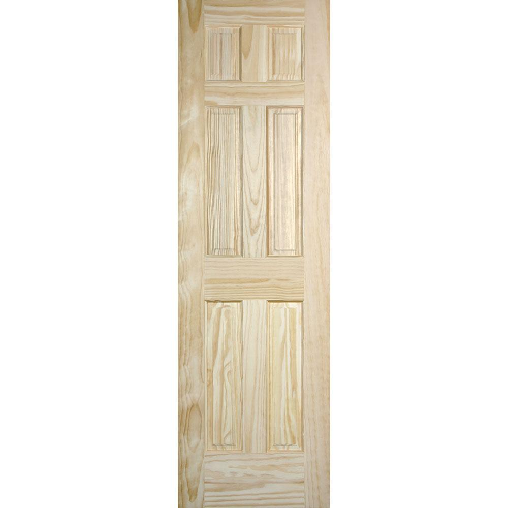Masonite 24 In X 80 In Radiata 6 Panel Solid Core Unfinished Pine Interior Door Slab 10714 The Home Depot