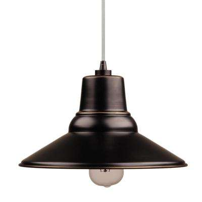 Aria 1-Light Imperial Black Outdoor Hanging Light