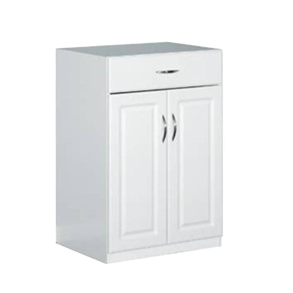 24 in. Freestanding Raised Panel Base Cabinet with 1-Drawer and 2-Door