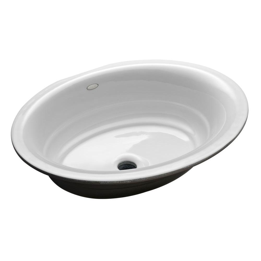 Garamond Undermount Cast Iron Bathroom Sink In White