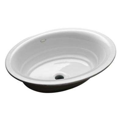 Garamond Undermount Cast Iron Bathroom Sink in White