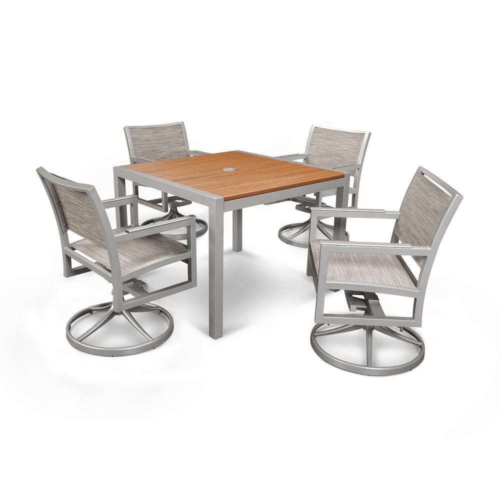 Parsons 5-Piece Plastic Outdoor Patio Dining Set