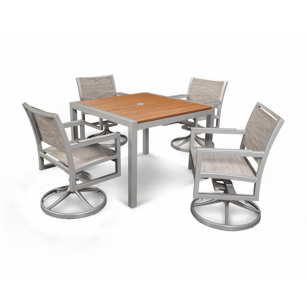 Trex Outdoor Furniture Parsons 5-Piece Plastic Outdoor Patio Dining Set by Trex Outdoor Furniture