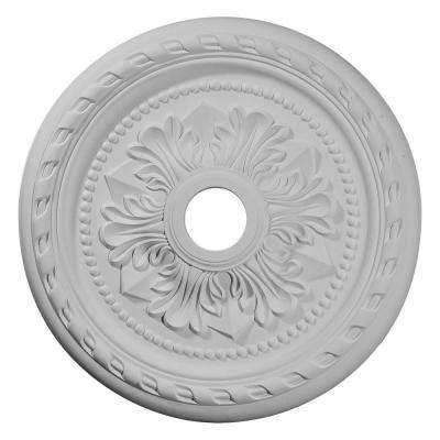 23-5/8 in. O.D. x 3-5/8 in. I.D. x 1-5/8 in. P Palmetto Ceiling Medallion
