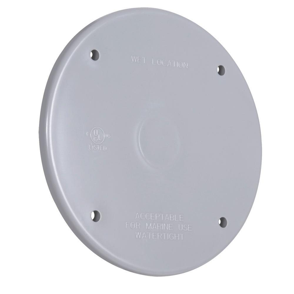 BELL Round Weatherproof Cover, Plastic, Blank, Gray