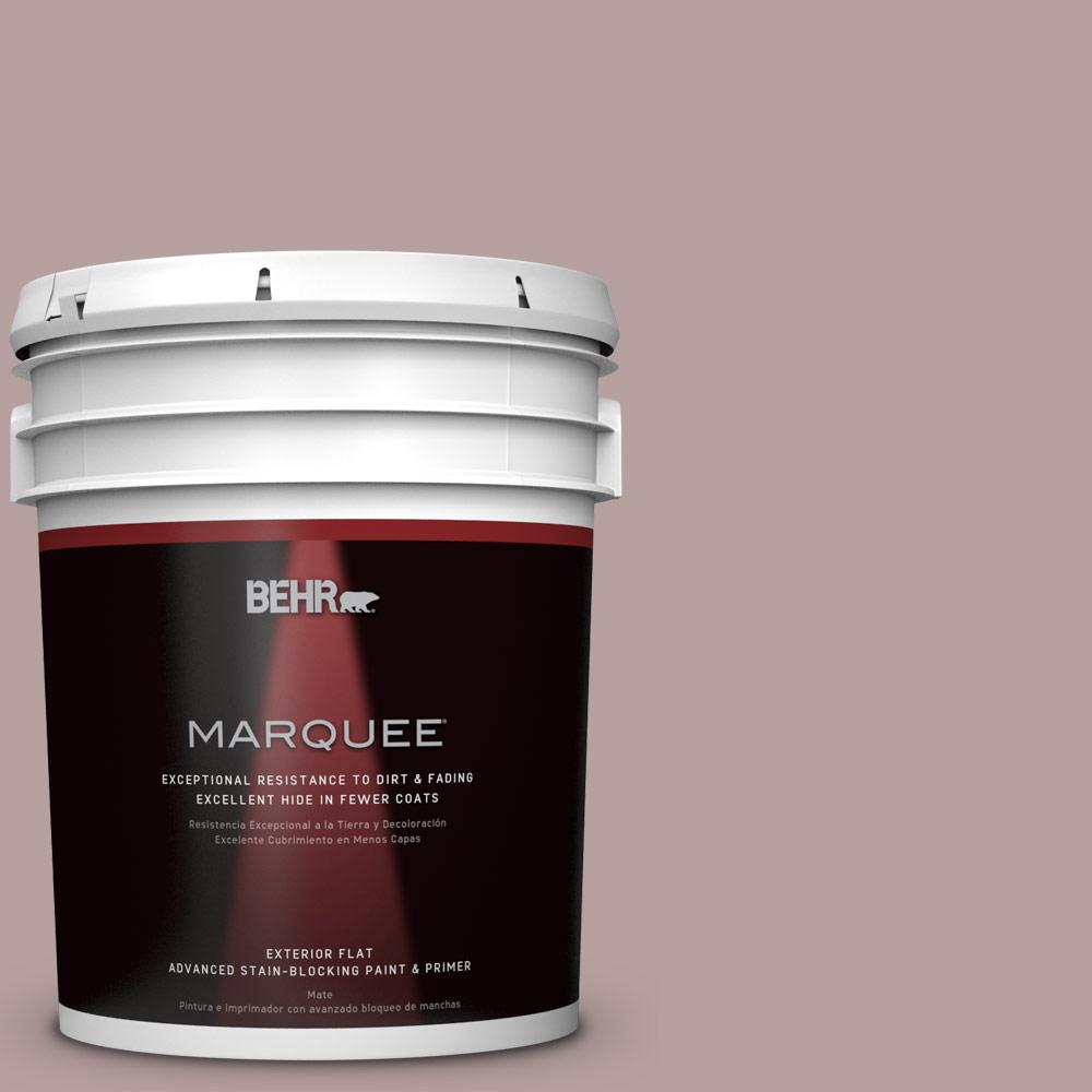 5-gal. #N130-4 Plum Taupe Flat Exterior Paint