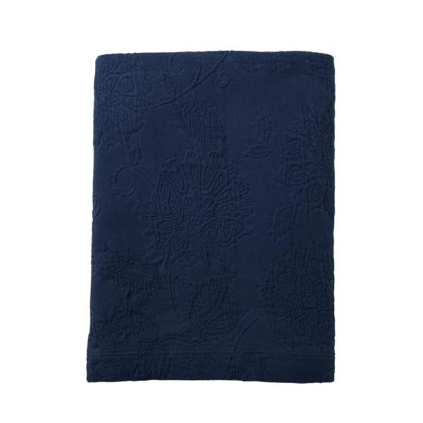 The Company Store Putnam Matelasse Navy Queen Coverlet