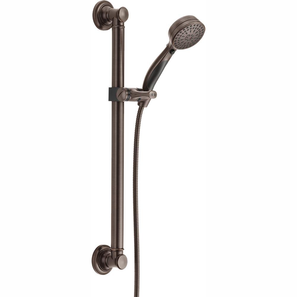 Traditional Decorative ADA 9-Spray Wall Bar Shower Kit in Venetian Bronze