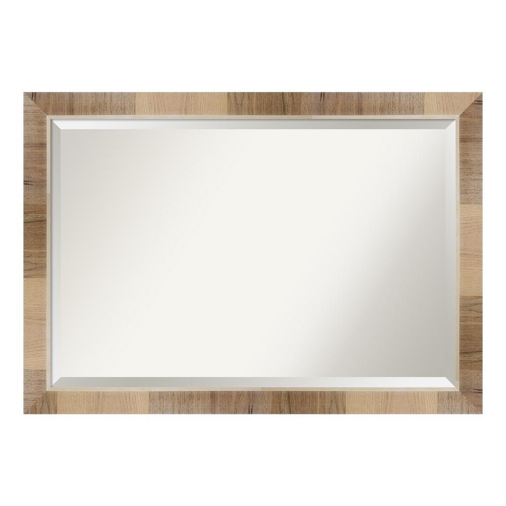 Natural White Wash Decorative Wall Mirror