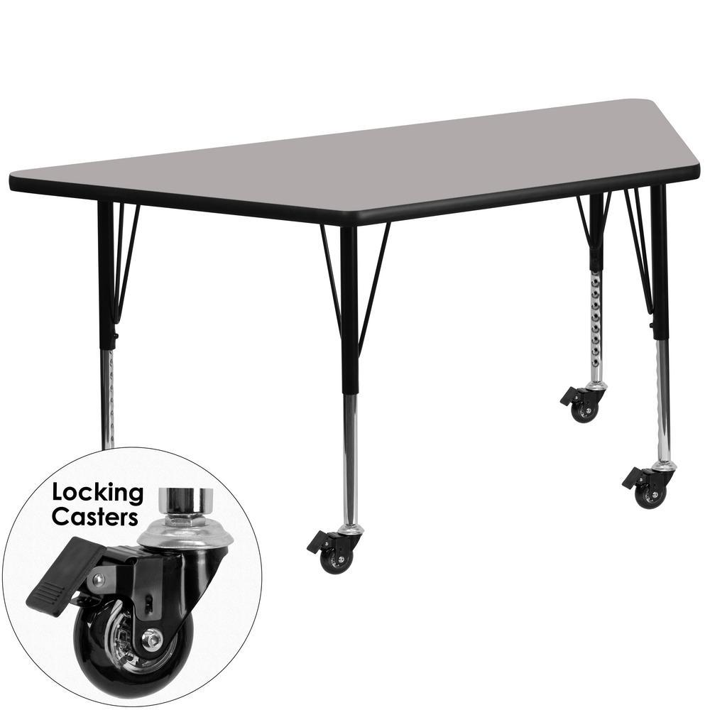 Flash Furniture Gray Kids Table XUA3060TRPGYHPC