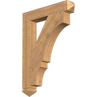 5.5 in. x 48 in. x 36 in. Western Red Cedar Balboa Arts and Crafts Smooth Bracket