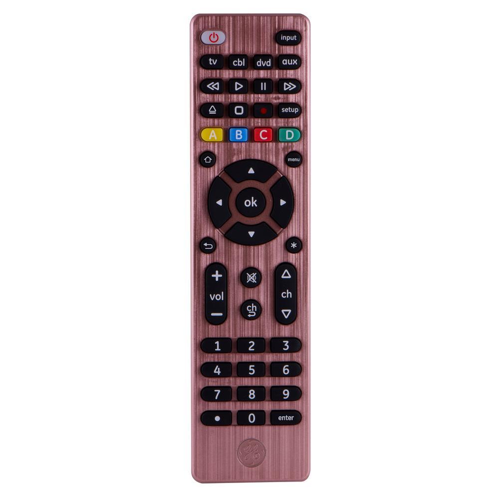 4-Device Universal Remote Control, Rose