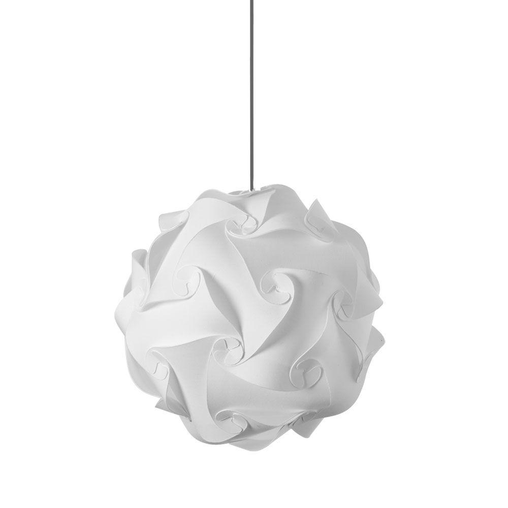 Radionic Hi Tech Globus 1-Light White Medium JTone Pendant