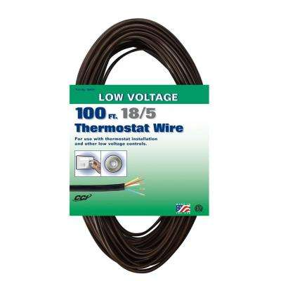 100 ft. 18/5 Brown Solid CU Thermostat Wire