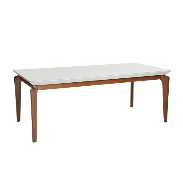 Manhattan Comfort Payson 72 04 In White Gloss Gl Top Dining Table