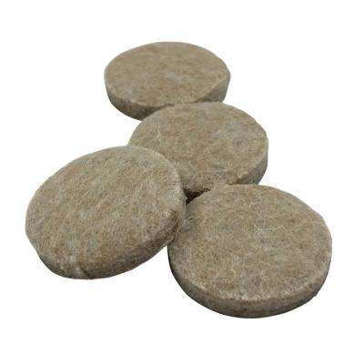 4 in. Beige Felt Pad (4-Pack)