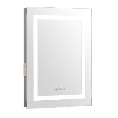 24 in. x 32 in. LED Wall Mirror in Metal Frame