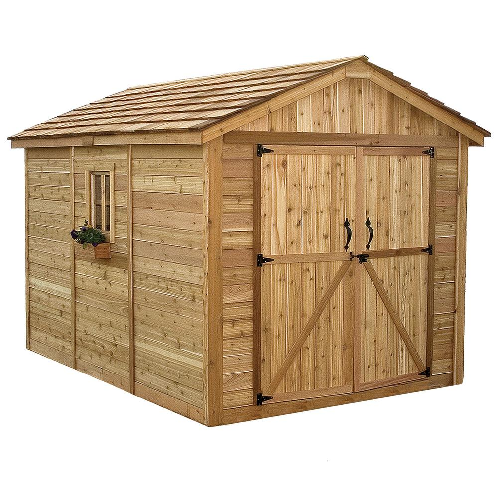 Outdoor living today spacemaker 8 ft x 12 ft western red for Outdoor tool shed