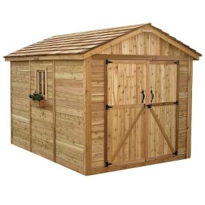 Outdoor Living Today Spacemaker 8 ft. x 12 ft. Western Red Cedar Storage Shed by Outdoor Living Today