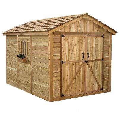 Spacemaker 8 ft. x 12 ft. Western Red Cedar Storage Shed