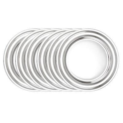 13 in. Stainless Steel Collar Rim Charger Plates (Set of 6)