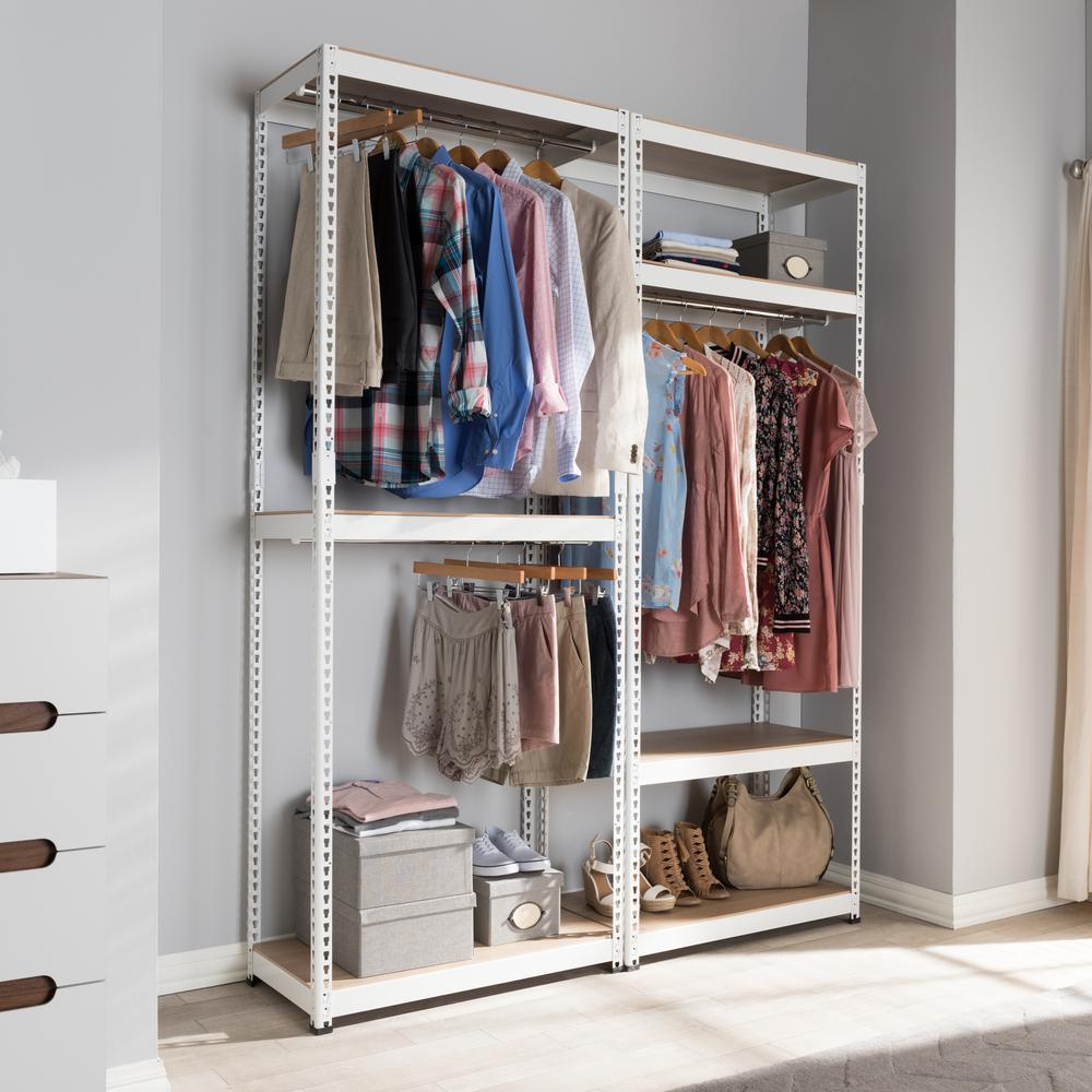 ClosetMaid ShelfTrack 5 Ft. To 8 Ft. White Wire Closet